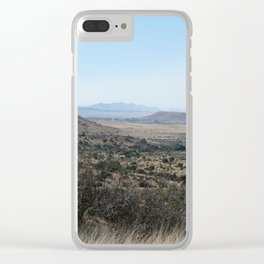 Texas Landscape Clear iPhone Case