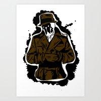 watchmen Art Prints featuring  Rorschach (Watchmen) by  Steve Wade ( Swade)