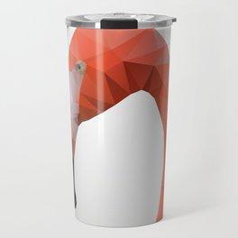 Flamingo – modern polygram illustration, wall art print Travel Mug