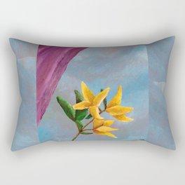 Victorian Forsythia Rectangular Pillow
