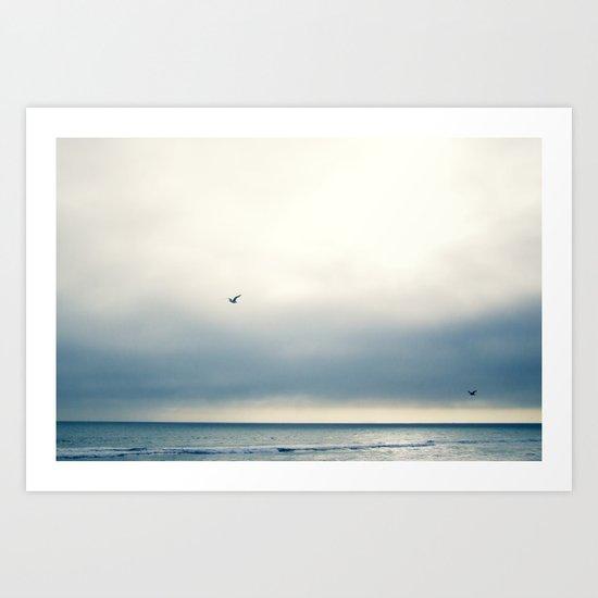 Silver Skies Art Print