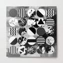 Eclectic Circles - Black and white, abstract, geometric, textured designs by printpix