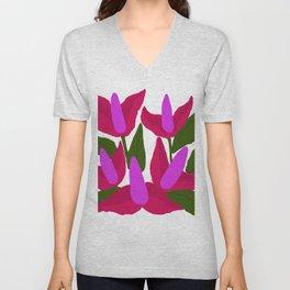 Purple Pink Marvels Unisex V-Neck