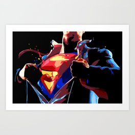 Superman - Secret Identity Art Print