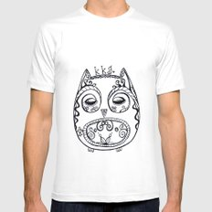 KKG Owl White MEDIUM Mens Fitted Tee