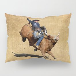 Bull Dust! - Rodeo Bull Riding Cowboy Pillow Sham