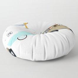 camping trip Floor Pillow