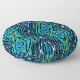 Blue Pattern Floor Pillow