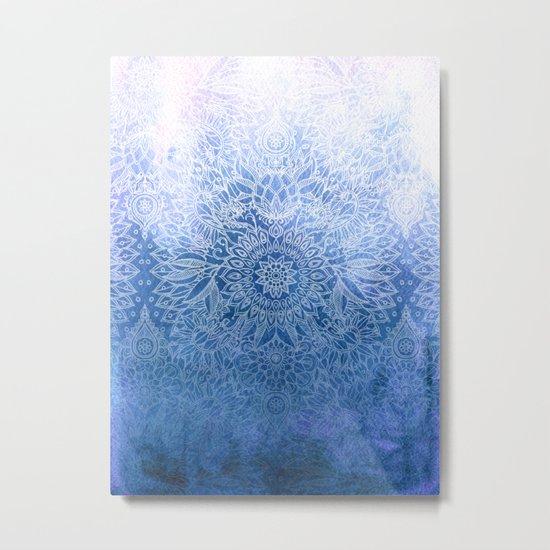 Enchanted Indigo - watercolor + doodle Metal Print
