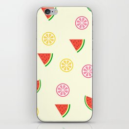 Lemons and watermelons iPhone Skin