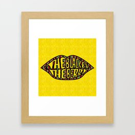 The Blacker the Berry Tribe called quest Framed Art Print