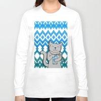 ikat Long Sleeve T-shirts featuring iKat iCat by micklyn