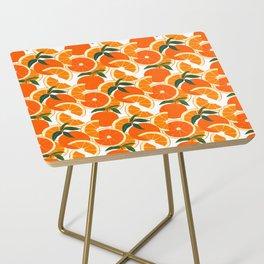 Orange Harvest - White Side Table