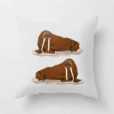 Pacific Walrus Throw Pillow