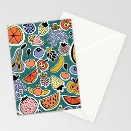 Fruity pattern Stationery Cards