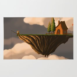 Fishing in the Clouds Rug
