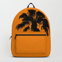Palm trees on tangerine Backpack
