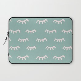 Mint Sleeping Eyes Of Wisdom - Pattern - Mix & Match With Simplicity Of Life Laptop Sleeve