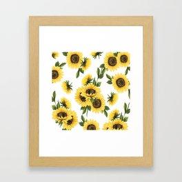 Lovely Sunflower Framed Art Print