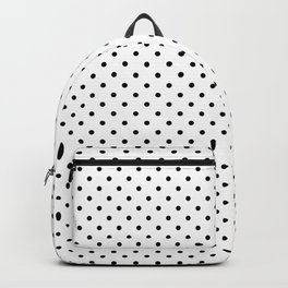 Classic Small Black Polkadots On White Backpack