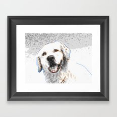 Snow Dog Framed Art Print
