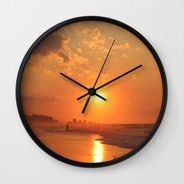 Sunrise on Myrtle Beach Wall Clock
