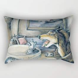 GrimmSeries5 - Wolf in the house Rectangular Pillow