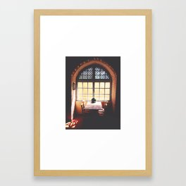 Dining Table Framed Art Print