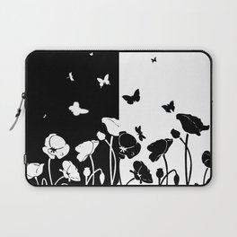 POPPIES AND BUTTERFLIES Laptop Sleeve