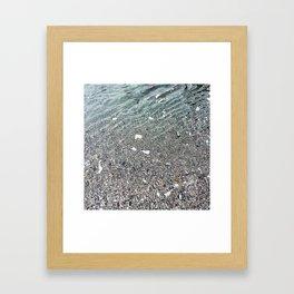 sparkling lake Framed Art Print