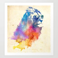 glasses Art Prints featuring Sunny Leo   by Robert Farkas