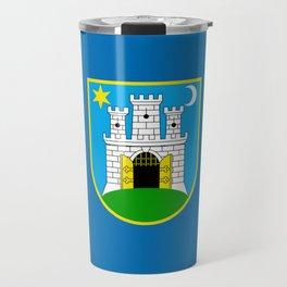 Flag of Zagreb Travel Mug