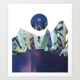 Lunar Lake Art Print