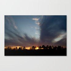 A Split Sunset Canvas Print