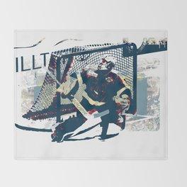 Goalie - Ice Hockey Player Throw Blanket