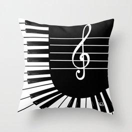 Piano Keys I Throw Pillow