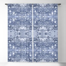 Drop Water Collage Print Pattern Blackout Curtain