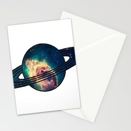 Saturn´s Space Stationery Cards
