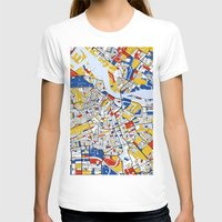 mondrian T-shirts featuring Amsterdam Mondrian by Mondrian Maps
