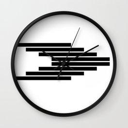 Side Ways | Black Wall Clock