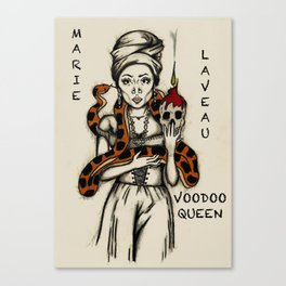 Marie Laveau - Voodoo Queen Canvas Print