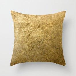Golden texture background. Vintage gold. Throw Pillow