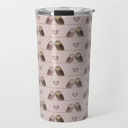 Owls in love (pink) Travel Mug