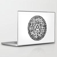 volkswagen Laptop & iPad Skins featuring Volkswagen Steampunk Mechanical Doodle by Squidoodle