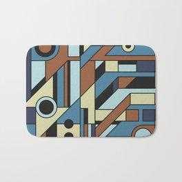 De Stijl Abstract Geometric Artwork 3 Bath Mat