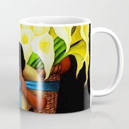 El Vendedor de Alcatraces (the Bringing of the Calla Lilies to Market) by Diego Rivera Coffee Mug