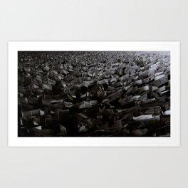 Black Steel Art Print