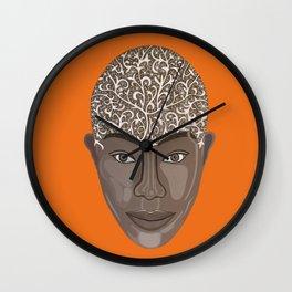 brown visage Wall Clock