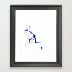 ...In a Blue Dress Framed Art Print