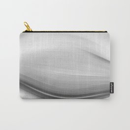 """""""Untitled 011"""" Black and White Abstract Art by Murray Bolesta Carry-All Pouch"""